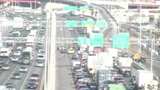 Crash on Interstate 95 in New Haven