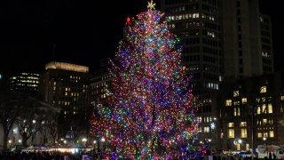 New Haven tree lighting 2019