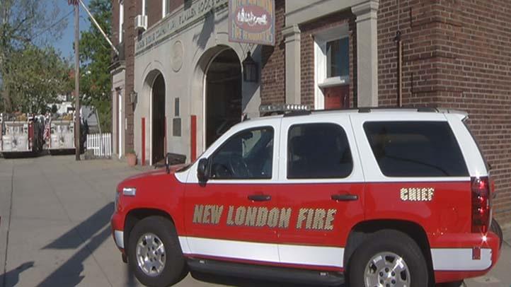 New London fire SUV