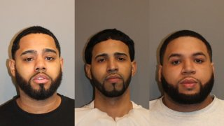 Booking photos of Wilber Lora-Espinal, Miguel Nunez and Jimmy Salcedo