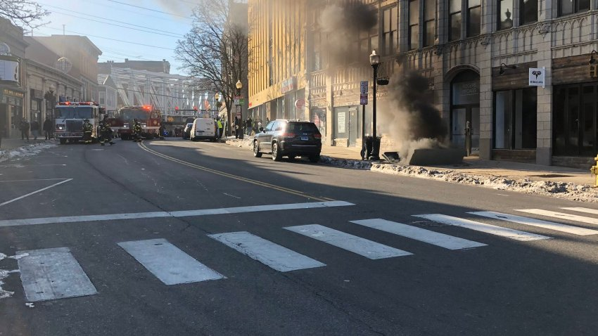 Smoke on North Main Street in Norwalk