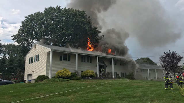 Norwalk lightning strike fire