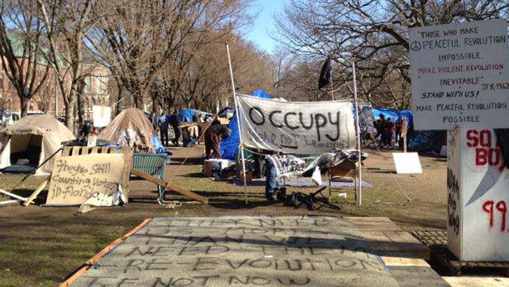 Occupy Hartford Camp daylight