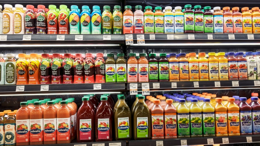 Drinks for sale at The Fresh Market.