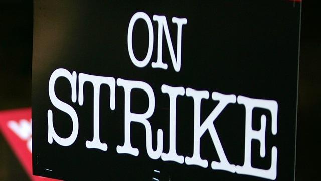 PHI on strike sign