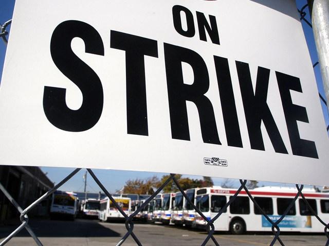 PHI SEPTA Strike sign
