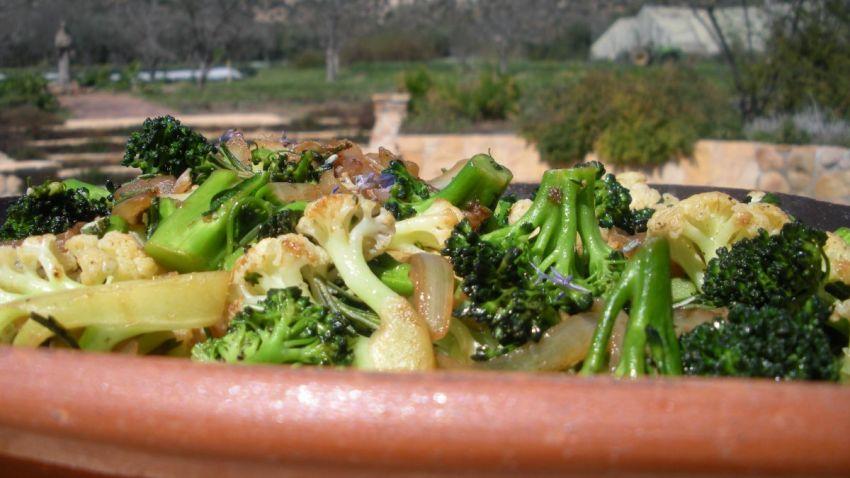 Pan Roasted Broccoli and Cauliflower 1200