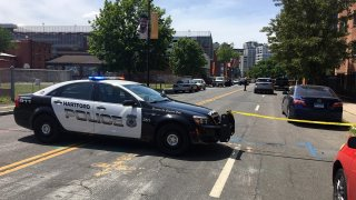 A person was shot on Interstate 91 and taken to Hartford Hospital