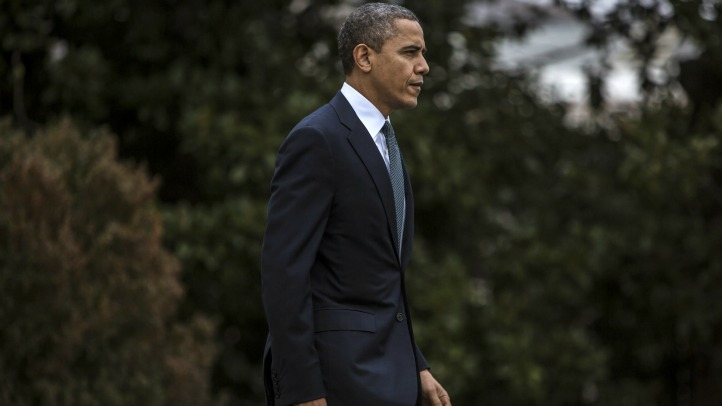 President Obama departs for Newtown