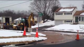 Water Main Break in East Hartford