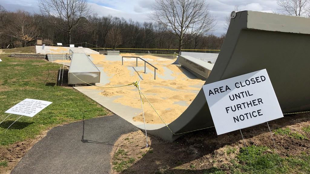 sand on a skate park in South Windsor