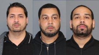 Shelton police booking photos of Saul Salazar, James Wadsworth Senior and and James Wadsworth Junionr