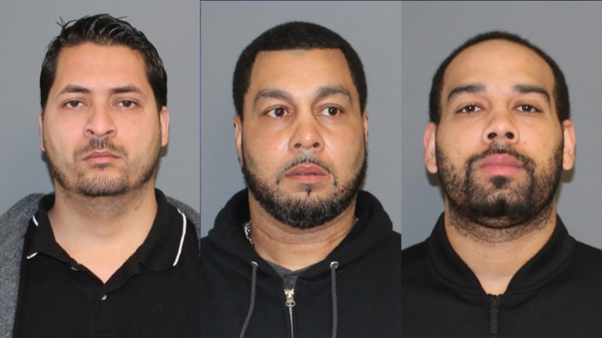 Shelton police booking photos of Saul Salazar, James Wadsworth Senior and and James Wadsworth Junionr