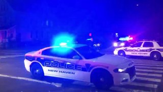 Police respond to scene of a shooting in New Haven