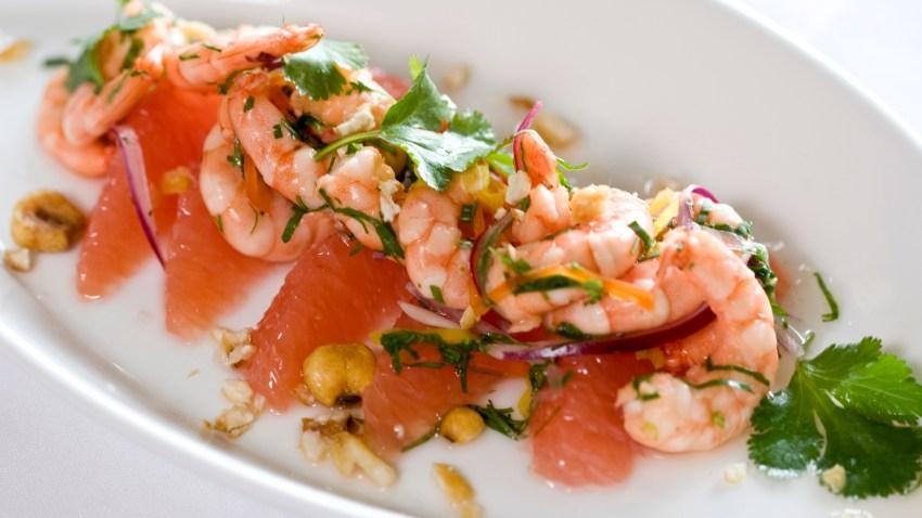 Taste Gastropub shrimp ceviche w grapefruit