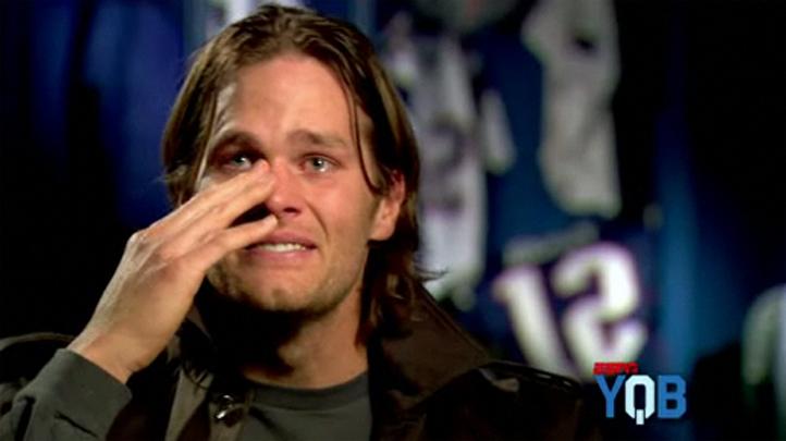 Tom Brady Cries