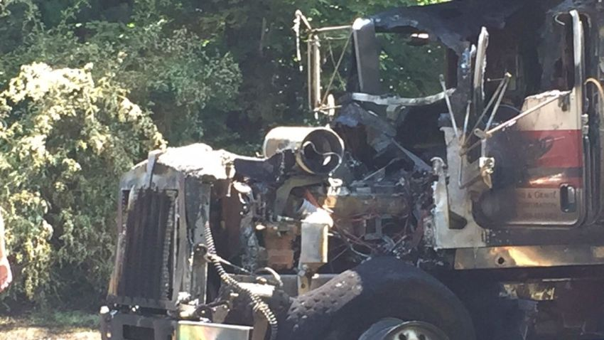 Truck fire on Route 31 in Coventry 1200