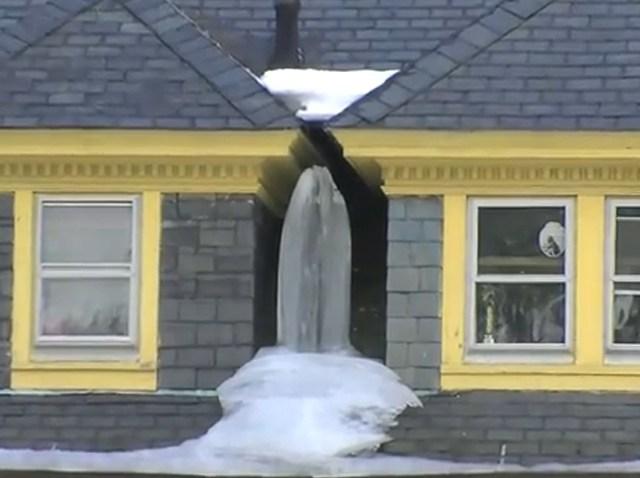 Virgin Mary in Ice