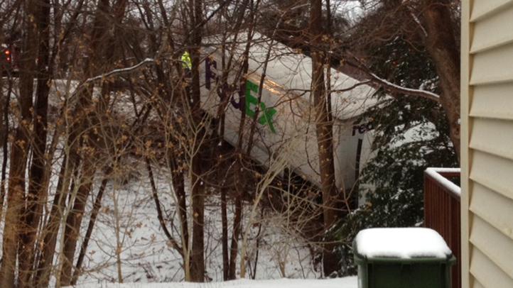 Wallingford Fed Ex Truck Crash 2