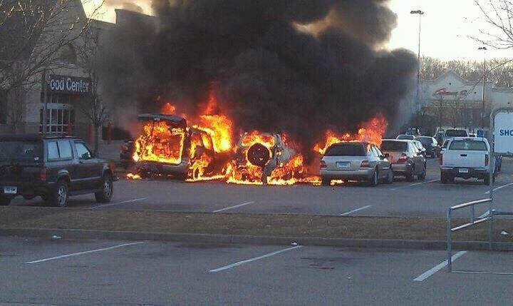 Walmart car fire 2