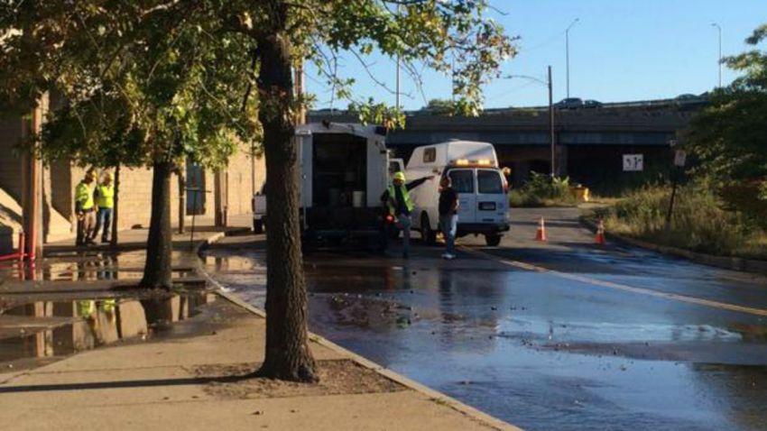 Water Main Break in New Haven 1200