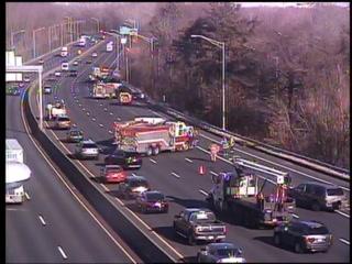 Crash on Interstate 91 in Wethersfield