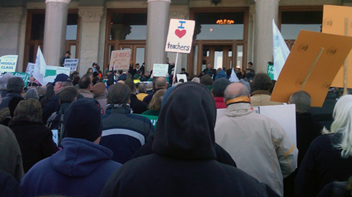 Wisconsin Rally in Hartford