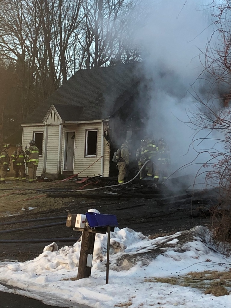 Crews on scene at a home in Burlington after early morning fire.