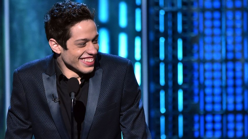 In this March 14, 2015, file photo, Pete Davidson speaks onstage at The Comedy Central Roast of Justin Bieber at Sony Pictures Studios in Los Angeles, California.
