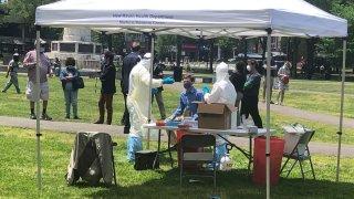 Mayor Justin Elicker gets tested for coronavirus