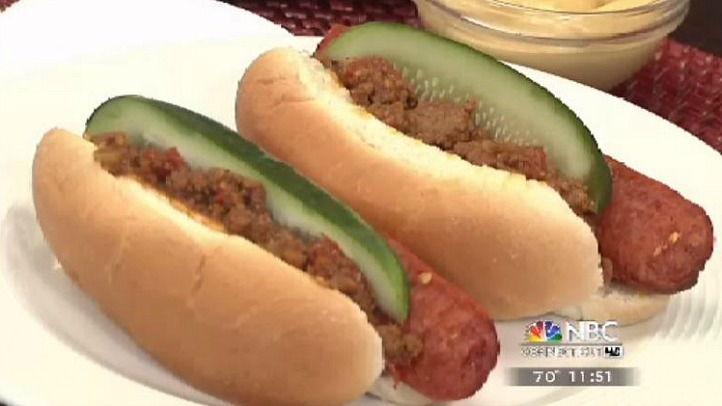 hot dog topping