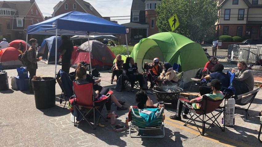 Bridgeport Police Camp-In Demonstration