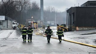 Crews on scene of industrial fire in Middletown