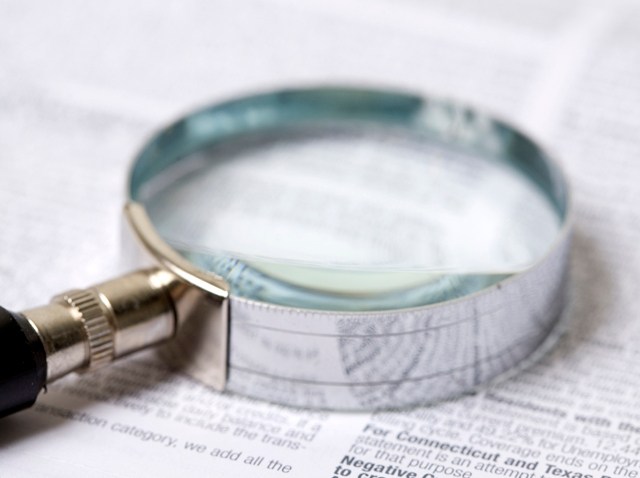 Magnifying glass solving crime generic