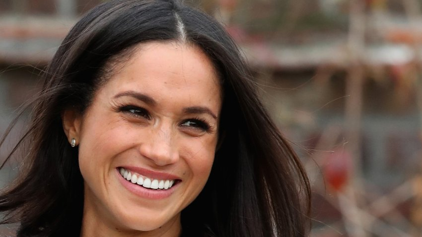 In this Nov. 27, 2017, file photo, Meghan Markle during an official photocall to announce the engagement of Prince Harry and actress Meghan Markle at The Sunken Gardens at Kensington Palace in London, England.