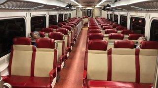 Empty Metro-North car