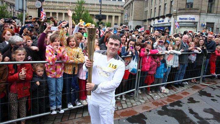 Britain London 2012 Olympics Torch