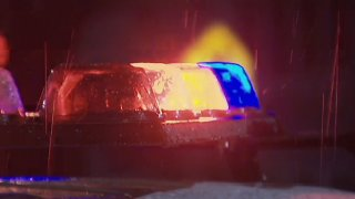 police lights rain dalet