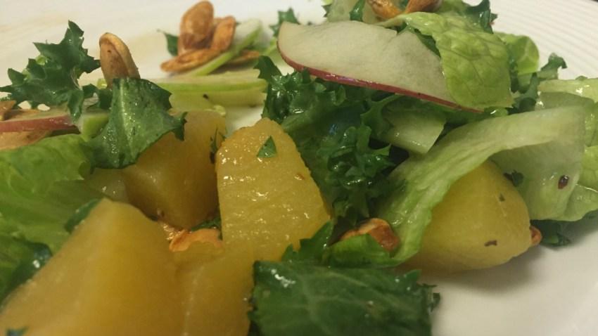 pumpkin seed apple salad
