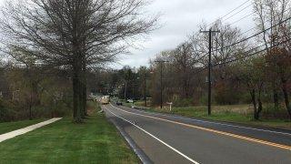emergency crews block Randolph Road in Middletown