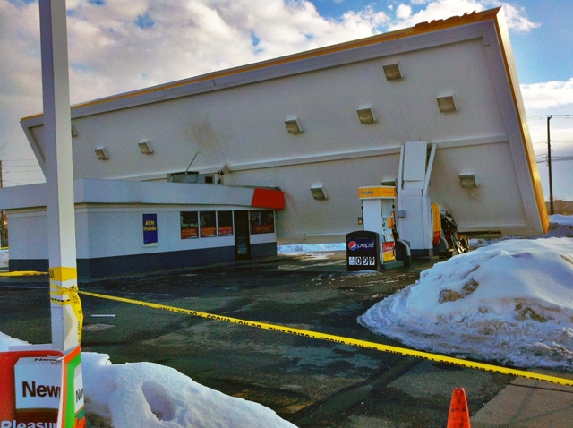 shell gas station collapse