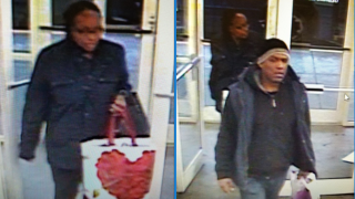 Picture of the two shoplifters that stole from Old Navy in Hamden