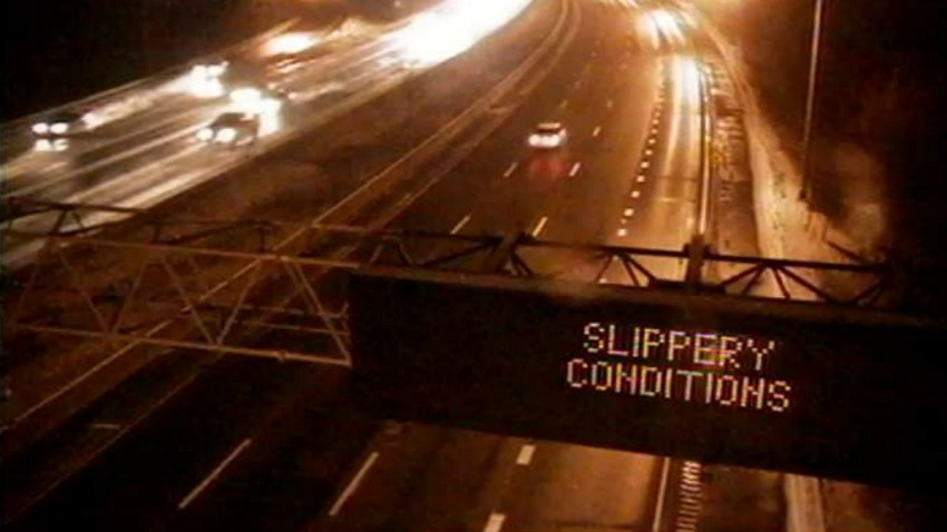 slippery conditions