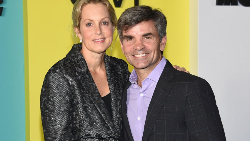"""In this Oct. 28, 2019 file photo Ali Wentworth, left, and her husband George Stephanopoulos attend the world premiere of Apple TV+'s """"The Morning Show"""" in New York. Stephanopoulos says he has tested positive for the coronavirus, but is relatively symptom-free. He said on Monday's """"Good Morning America"""" show that other than a brief backache and diminished sense of smell, he's been feeling fine. His wife, journalist Ali Wentworth, has the disease and has said she's never felt sicker."""