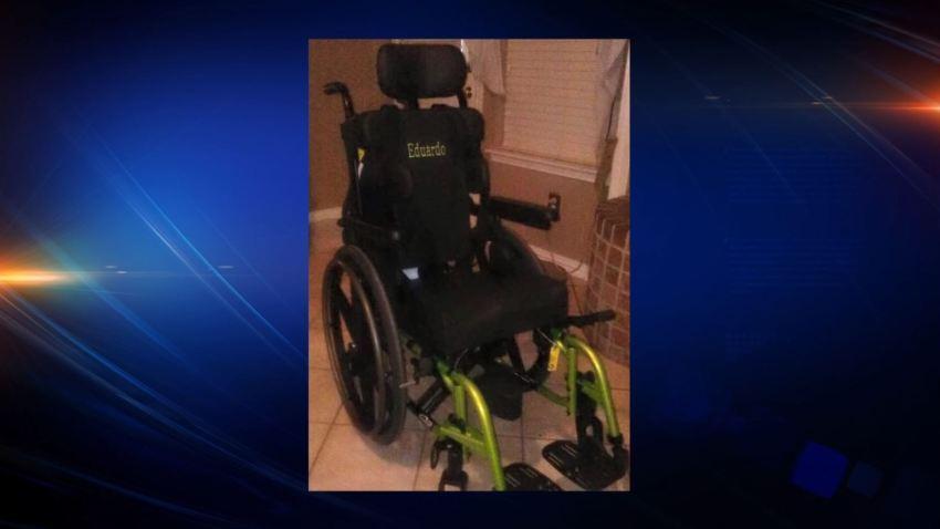 stolen wheelchair