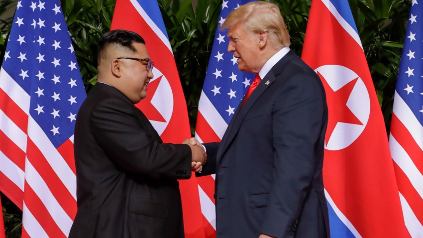 APTOPIX Trump Kim Summit