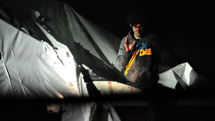 Tsarnaev in Boat