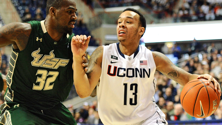 NCAA Basketball 2013: South Florida vs Connecticut FEB 03