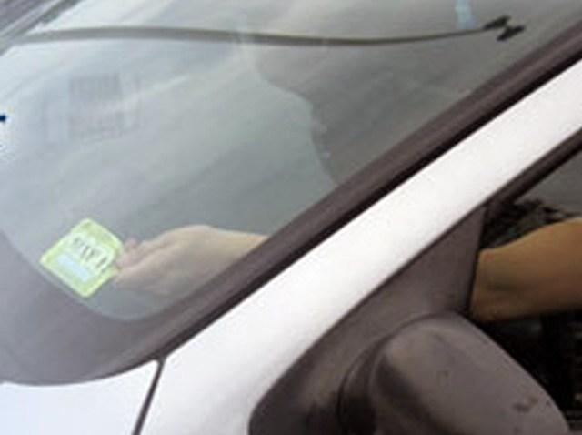 windshield-sticker