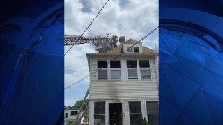 Crews at scene of fire on James street in Hartford 1200